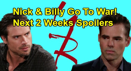 The Young and the Restless Spoilers Next 2 Weeks: Billy & Nick Go to War – Summer Threatens Theo – AJ's Death Haunts Victor