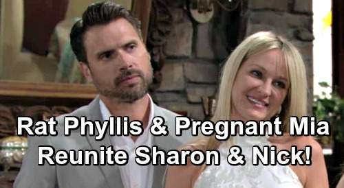 The Young and the Restless Spoilers: Phyllis' Betrayal and Mia's Pregnancy Send Nick and Sharon To Shick Reunion