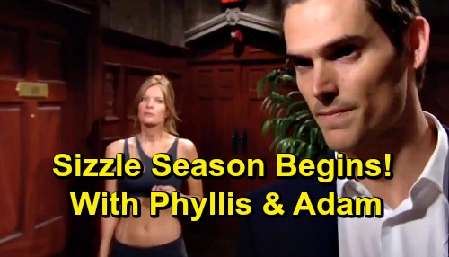 The Young and the Restless Spoilers: Sizzle Season Begins With Phyllis and Adam - Summer Y&R Character Returns and Couple Remixes