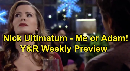 The Young and the Restless Spoilers: Week of December 9 Preview – Chelsea Forced to Pick Adam or Nick – Devon Blindsides Elena