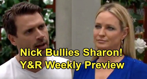 The Young and the Restless Spoilers: Week of July 29 Preview – Nick Threatens Sharon to Pick a Side, Adam or Everyone Else