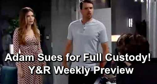 The Young and the Restless Spoilers: Week of June 17 Preview – Adam Sues for Full Custody of Christian – Phyllis' Vegas Revenge