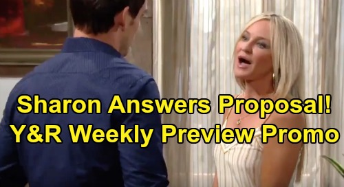 The Young and the Restless Spoilers: Week of August 19 Promo – Sharon's Shock Answer To Adam Proposal – Phyllis Threatens Victor