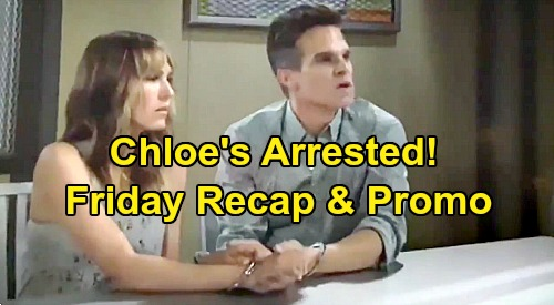 The Young and the Restless Spoilers: Friday, August 23 Recap – Chloe Arrested, Kevin Punches Michael – Sharon & Chelsea Face Off