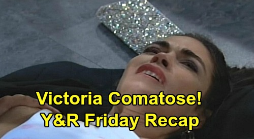 The Young and the Restless Spoilers: Friday, February 21 Recap – Victoria in Coma After Surgery – Billy Blamed, Ripley Escapes