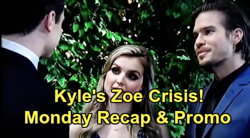 The Young and the Restless Spoilers: Monday, August 19 Recap – Kyle's Zoe Crisis - Michael Threatens Billy – Mariah Gets Lucky