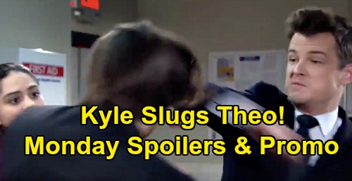 The Young and the Restless Spoilers: Monday, January 20 Recap – Phyllis' Fire Alarm – Kyle Punches Theo – Tessa Shocks Mariah
