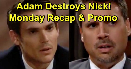 The Young and the Restless Spoilers: Monday, July 22 Recap - Adam Destroys Nick In Custody Hearing - Christian DNA Evidence