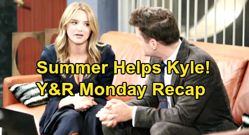 The Young and the Restless Spoilers: Monday, October 21 Recap – Scheming Theo Meets Adrian – Summer Helps Kyle - Lola Lashes Out