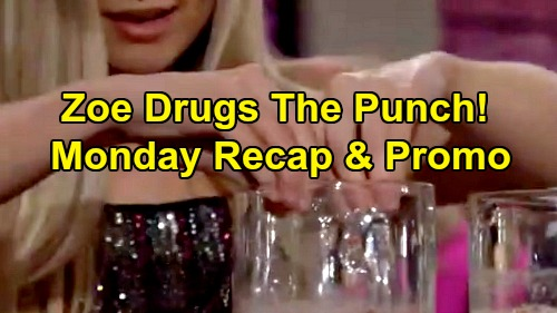 The Young and the Restless Spoilers: Monday, September 9 Recap – Zoe Drugs Drinks – Adam's Shocking Bet – Party Crasher Phyllis