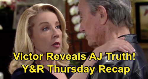 The Young and the Restless Spoilers: Thursday, April 16 Recap – Victor Confesses AJ Truth to Nikki – Phyllis Blasts Abby the Thief