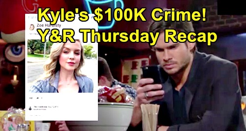 The Young and the Restless Spoilers: Thursday, August 15 Recap – Theo Spills Kyle's $100K Bribe, Reaches Out to Zoe Hardisty