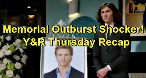 The Young and the Restless Spoilers: Thursday, January 10 Recap – Outburst At J.T. Memorial – Mia and Arturo Get Too Close