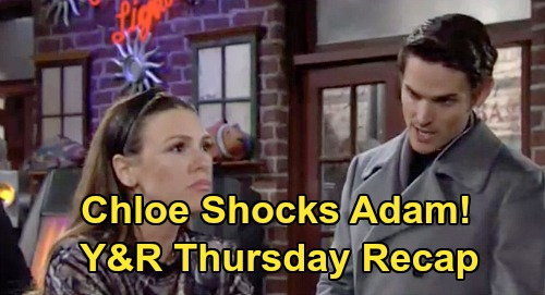 The Young and the Restless Spoilers: Thursday, January 23 Recap – Chloe's Confession Shocks Adam – Vegas Problem Hits, Chelsea Suspicious