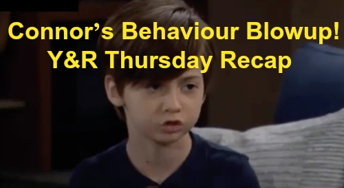 The Young and the Restless Spoilers: Thursday, October 10 Recap – Connor's Behaviour Blowup – Adam Suspected in Chance Bomb