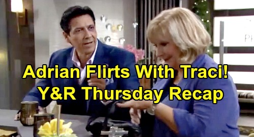 The Young and the Restless Spoilers: Thursday, October 17 Recap – Lola's Father Wants Money, Flirts with Traci – Dina's Old Letter