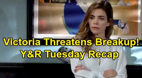 The Young and the Restless Spoilers: Tuesday, January 21 Recap – Victoria Threatens Billy Breakup – Mariah & Faith Take a Trip