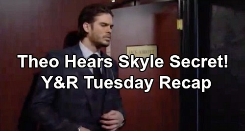 The Young and the Restless Spoilers: Tuesday, January 28 Recap – Theo Eavesdrops on Summer & Kyle's Kissing Secret - Sharon Needs Space