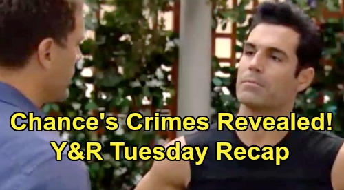 The Young and the Restless Spoilers: Tuesday, July 16 Recap - Chance's Crimes Discovered - Connor's Location Revealed