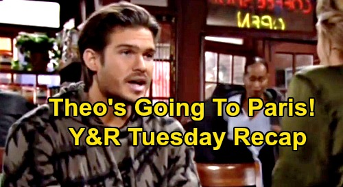 The Young and the Restless Spoilers: Tuesday, November 19 Recap – Theo's Going To Paris – Nate's Fate – Chance Exposes Phyllis