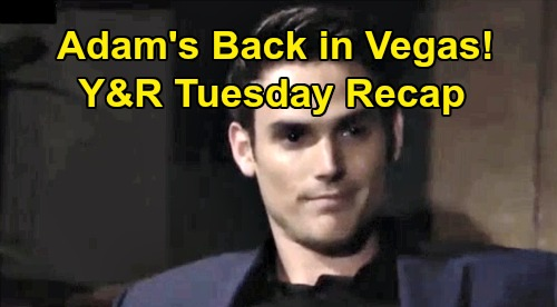 The Young and the Restless Spoilers: Tuesday, October 1 Recap - Victor Aids Adam's Vegas Escape - Cane Promises To Find Chance