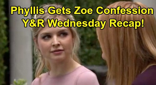 The Young and the Restless Spoilers: Wednesday, September 11 Recap – Phyllis Records Zoe's Confession – Kyle Soothes Humiliated Summer