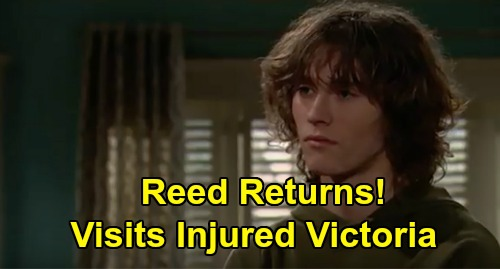 The Young and the Restless Spoilers: Reed Hellstrom Visits Hospitalized Victoria, Rushes to Mom's Side – Tristan Lake Leabu Returns to Y&R
