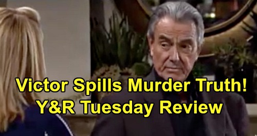 The Young and the Restless Spoilers: Tuesday, April 7 Review - Victor Spills Murder Truth But Won't Discuss It Further