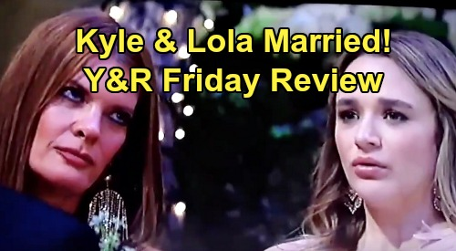 The Young and the Restless Spoilers: Friday, August 16 Review - Lola & Kyle Enjoy Wedding Day - Papa Adrian Secretly Watches