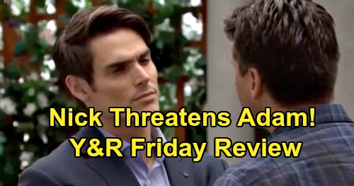 The Young and the Restless Spoilers: Friday, August 2 Review - Victor Nearly Collapses - Nick Preaches Peace But Threatens Adam