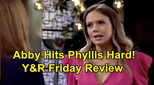 The Young and the Restless Spoilers: Friday, February 28 Review - Abby Turns The Tables On Phyllis - Victor Weighs Adam For CEO
