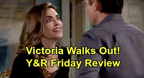 The Young and the Restless Spoilers: Friday, January 17 Review - Victoria Walks Out On Billy - Mariah & Faith Process Sharon's Diagnosis