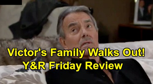 The Young and the Restless Spoilers: Friday, October 4 Review - Victor Defends Adam, Family Disgusted - Phyllis Follows Cane To Vegas