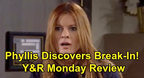 The Young and the Restless Spoilers: Monday, March 9 Review - Phyllis Discovers Break In - Victor Betrays Adam - Billy & Amanda Get Serious