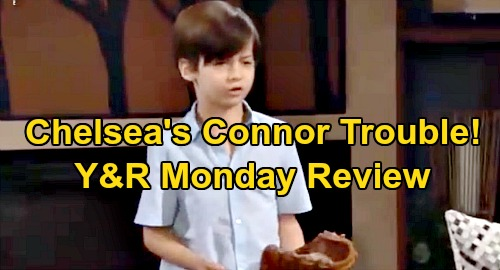 The Young and the Restless Spoilers: Monday, August 12 Review - Chelsea's Connor Trouble - Victor Moves Against Adam