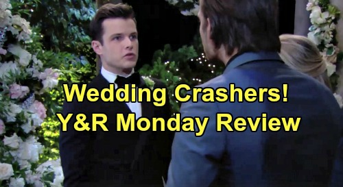 The Young and the Restless Spoilers: Monday, August 19 Review - Kyle & Lola's Wedding Crashers - Billy's Adam Obsession Deepens