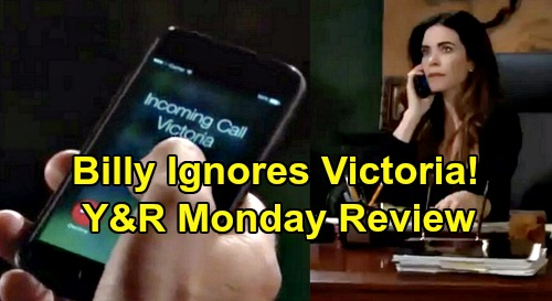 The Young and the Restless Spoilers: Monday, December 2 Review - Billy Ignores Victoria - Chelsea Disappoints Nick - Elena Slams Nate
