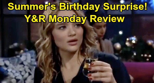 The Young and the Restless Spoilers: Monday, December 23 Review - Theo's Family Holiday - Kyle's Tree Blunder - Summer's Birthday
