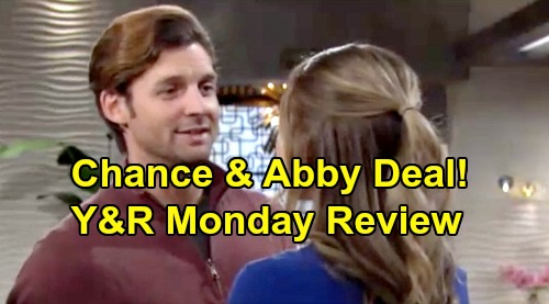 The Young and the Restless Spoilers: Monday, December 9 Review - Amanda's Loose Ends - Abby's Offer to Chance - Elena Tells Devon Off
