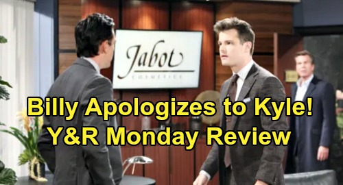 The Young and the Restless Spoilers: Monday, November 18 Review - Billy Apologizes To Kyle - Chance Mystery in The Maldives - Sharon Helps Connor