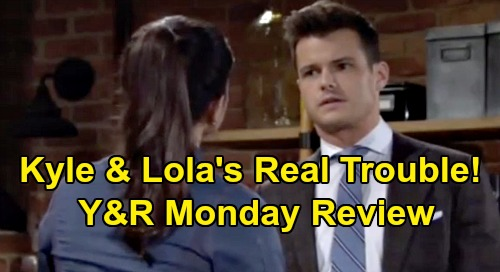 The Young and the Restless Spoilers: Monday, October 21 Review - Kyle and Lola Head For Real Trouble - Cane Back With Original Will