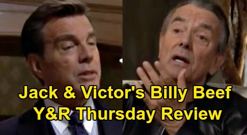 The Young and the Restless Spoilers: Thursday, February 13 Review - Baby Boy for Kevin & Chloe - Victor Blames Jack For Coddling Billy