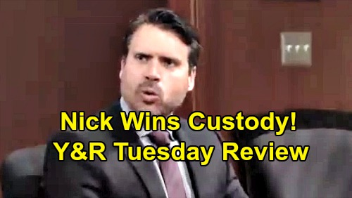 The Young and the Restless Spoilers: Tuesday, August 27 Review - Nick Gets Custody of Christian While Adam Bonds With Connor
