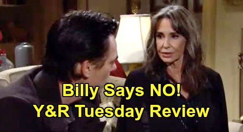 The Young and the Restless Spoilers: Tuesday, February 25 Review - Abby Gets Served - Mariah Accuses Tessa Of Cheating - Billy Rejects Jill's Job Offer