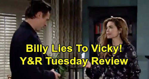 The Young and the Restless Spoilers: Tuesday, January 14 Review - Billy Lies To Victoria - Lily Visits GC - Sharon's Biopsy News