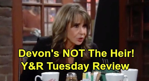 The Young and the Restless Spoilers: Tuesday, October 22 Review - Connor Self Harms After Victor Visit - Devon NOT Rightful Heir