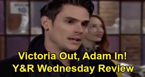 The Young and the Restless Spoilers: Wednesday, February 26 Review - Adam Offers To Replace Victoria - Theo and Lola's Real Romance Begins