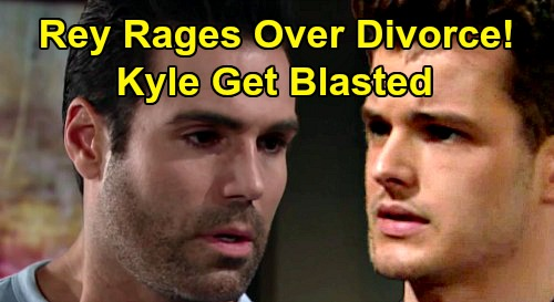 The Young and the Restless Spoilers: Rey Rages At Kyle Over Lola Divorce - Sister's Heartache Trigger Rage