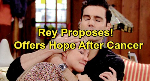 The Young and the Restless Spoilers: Rey Gives Sharon a Wedding to Look Forward To – Proposal Offers Hope After Cancer?
