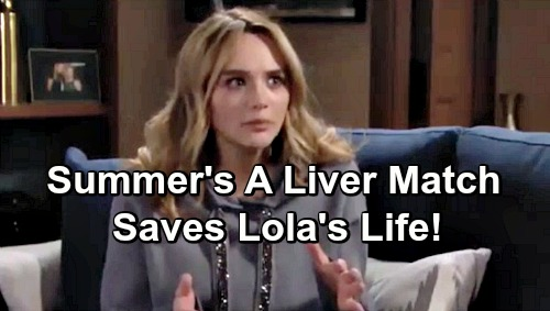 The Young and the Restless Spoilers: Summer's a Liver Donor Match, Saves Lola's Life – Kyle Stunned by Ex's Heroic Sacrifice?